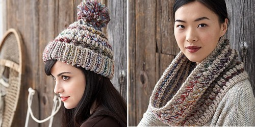 Big Stitch Hat & Cowl by Patons