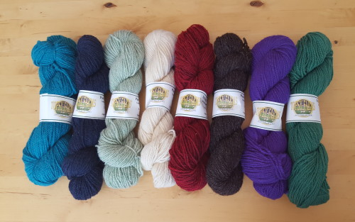 Topsy Farms worsted weight yarn available at Yarns Untangled